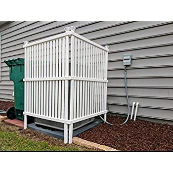 Amazon Com One Pvc 6 X 4 Vinyl Basket Weave Fence