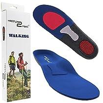 Happy2Feet - WALKING - Einlegesohlen ideal für Wandern und Alltag - Optimale Dämpfung - Maximaler Halt - Für Damen & Herren