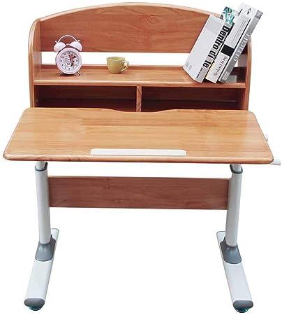 Juegos de mesas y sillas Mesa de Estudio de Madera Maciza para niños, Escritorio Simple para Estudiantes, estantería, Mesa de elevación para Estudiantes, Adecuada para 3-18 años de Edad: Amazon.es: Hogar
