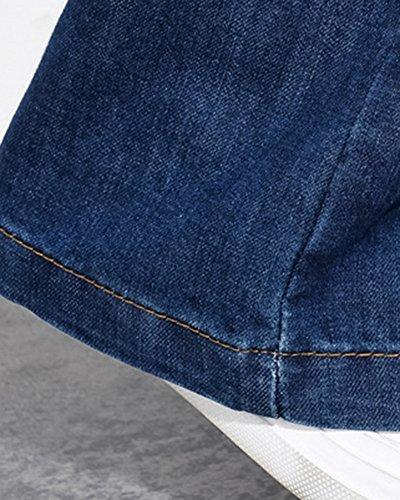 Vintage Jean Femme Grande Bootcut Slim Flare Bleu Haute Taille Pantalon Taille Fonc 5YwwBrq8