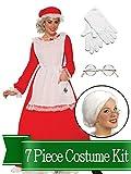 BirthdayExpress Mrs Claus Traditional Womens Complete Costume Kit - Standard