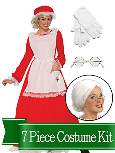 BirthdayExpress Mrs Claus Traditional Womens Complete Costume Kit - Standard