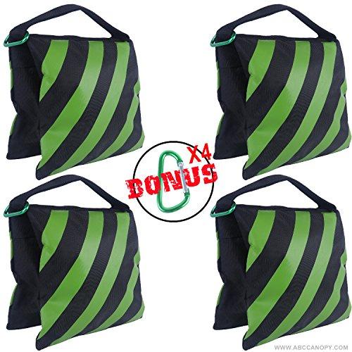 (ABCCANOPY Sandbag Saddlebag Design 4 Weight Bags for Photo Video Studio Stand (Kelly)