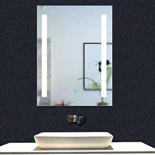 AICA SANITARIOS Espejo de baño 50x70 cm Espejo led - Interruptor Táctil - Función Anti-Niebla - Frío Blanco (6000K) - Espejo de Pared - Espejo con iluminación: Amazon.es: Hogar
