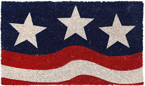 Entryways P970 Stars and Stripes Non-Slip Coconut Fiber Doormat 17