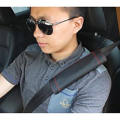 Encell PU Car Seat Belt Cover Shoulder Pad,Black: Automotive