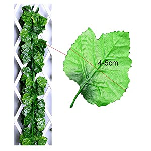 Echodo 82 Ft Artificial Ivy Leaf Garland Fake Hanging Plants Grape Silk Ivy Vine Garlands Wall Crafts Christmas Party Decoration 2