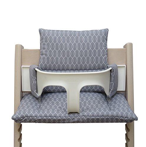 Blausberg Baby - Cushion Set for Tripp Trapp High Chair of Stokke - Grey Sailer