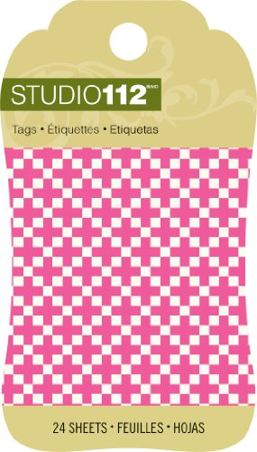 K&Company Studio 112 Mini Tag Pad for Scrapbooking, Pink