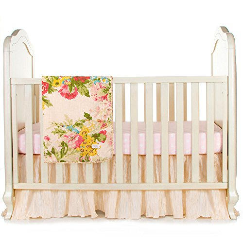 Charlotte 3 Piece Infant Baby Girl Floral Crib Bedding Set by Glenna Jean