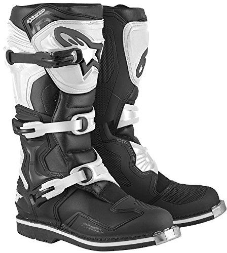 Alpinestars Tech 1 Men's Off-Road Motorcycle Boots - Black/White / 10