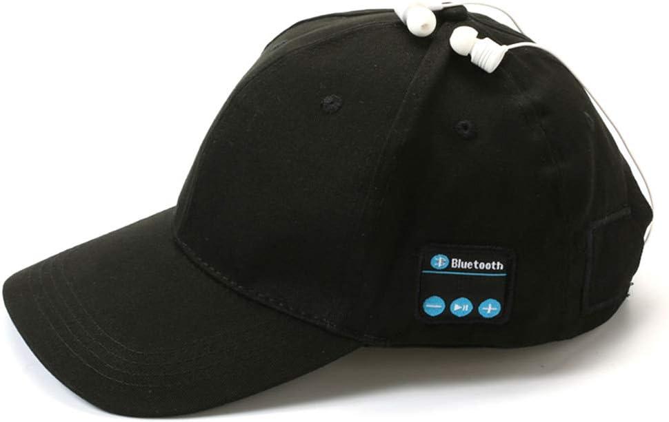 kdjsic Auriculares inalámbricos con Bluetooth, Gorra de béisbol para Exteriores, música, Auriculares, Sombreros para el Sol Desmontables