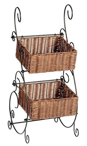Wicker & Metal Storage Baskets by OakRidgeTM XL (Wicker Kitchen Storage Baskets)