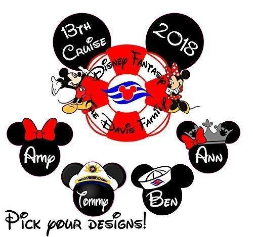 (Custom Disney inspired Cruise Magnet - Personalized Door Magnet - Sign)