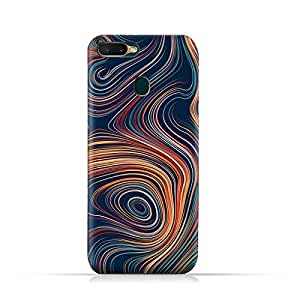 AMC Design Oppo A7 TPU Silicone Soft Protective Case with Abstract Swirled Stripes Pattern