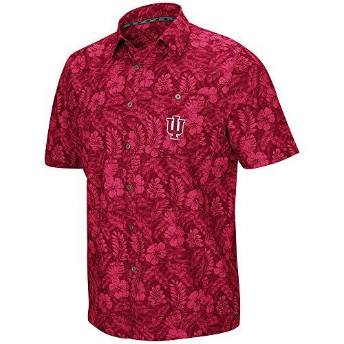 - Colosseum Mens Indiana Hoosiers Luau Camp Shirt - XL