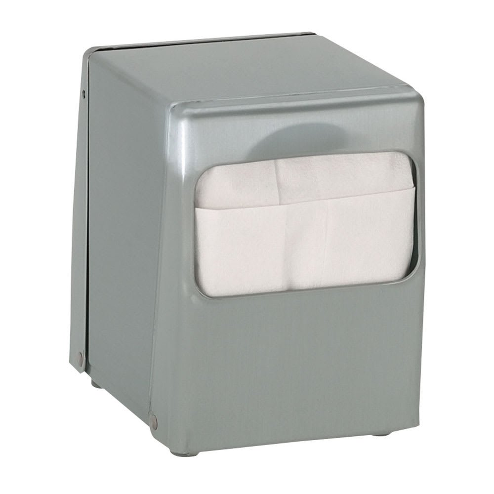 TableTop King TTLOWBS Napkin Dispenser, Low Fold 4-7/8 x 3-1/2 in, 2 Sided, Brushed Satin Steel by TableTop King (Image #1)