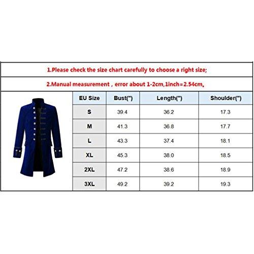 Color Bu8501 Vendimia Sección Collar Delgada Botón Larga Hombres Camisa Manga Blusa Larga Sólido Stand Uniforme Moda con Blanco Steampunk Blusa Capa q1gvwAWxXH