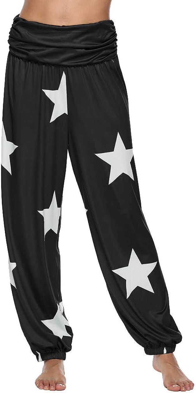 MrTom Mujeres Pantalones De Harén Hippie Pantalones de Yoga Danza ...
