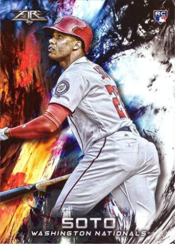 2018 Topps Fire Baseball #181 Juan Soto Rookie Card