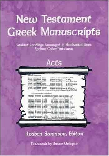 New Testament Greek Manuscripts: Acts (New Testament Greek Manuscripts)