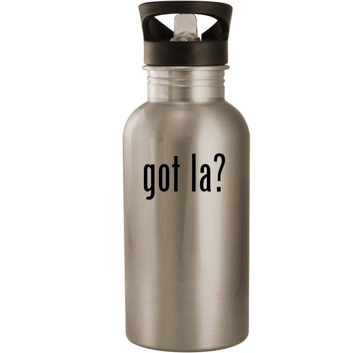 got la? - Stainless Steel 20oz Road Ready Water Bottle, Silver