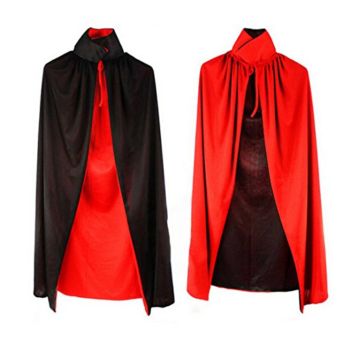 Wensltd Halloween Cloak Masquerade Cos Props Small Devil Horns Gowns For Adult
