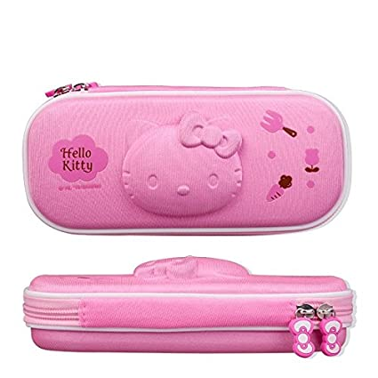 Hello Kitty Pencil Bag Large Capacity Hellokitty Creative Mutil Layer Stationery Box Pen Storage Case
