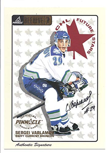 SERGEI Serhiy VARLAMOV 1997-98 Pinnacle Beehive CHL Future Stars #73 AUTOGRAPH Rookie Card RC Swift Current Broncos Hockey ()