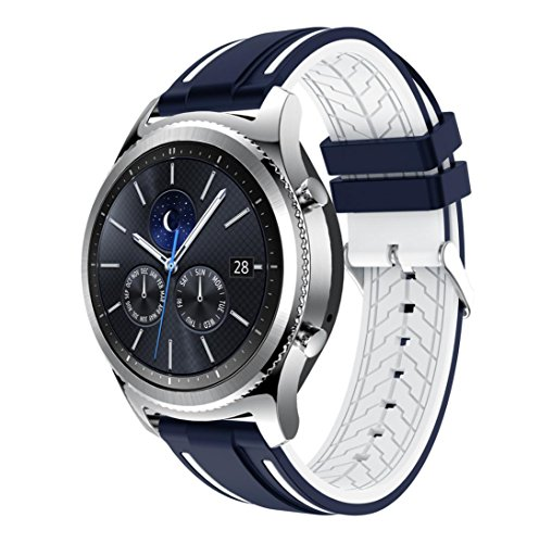 Price comparison product image For Samsung Gear S3 Classic, Outsta New Fashion Sports Silicone Bracelet Strap Band (G)