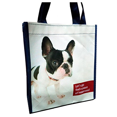 French bulldog Photo Prints on non woven lunch Bag Walking dog pet bag