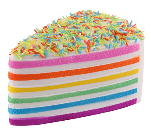 s Cake Rainbow Jumbo Slow Rising Kawaii Scented Cheese Squishies,1Pcs ()