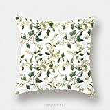 Custom Satin Pillowcase Protector Watercolor Print Snowberry On A White Background Christmas Pattern 478871770 Pillow Case Covers Decorative