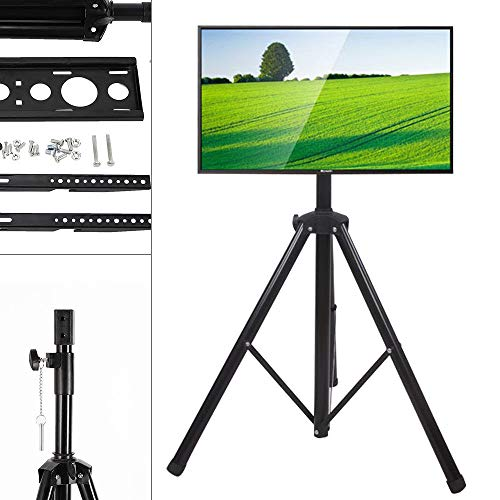 - Black Tripod TV Display Portable Floor Stand Height Adjustable Mount for 34