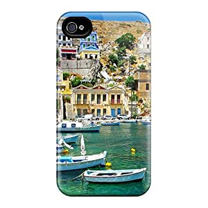 High Quality Greece Coast View Case For Iphone 4/4s / Perfect Case
