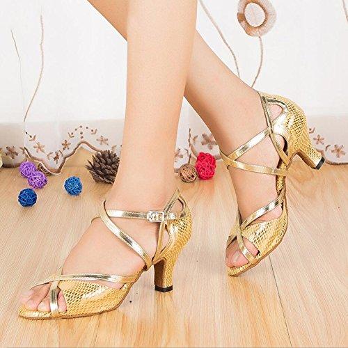 Party Scintillanti Scarpe Xue Rosso Glitter Scamosciati Interni Donna Azzurro colore Un Ballo sandali E 33 Serali Oro Da C tacco Latino Glitter Dimensione vPqdqrI