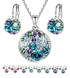 Women's Jewelry Set Made with Swarovski Crystals