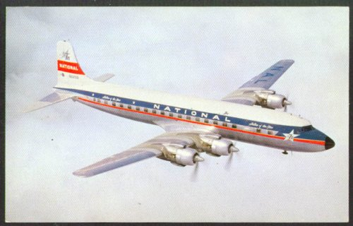 National Airlines Douglas DC-7B postcard 1950s