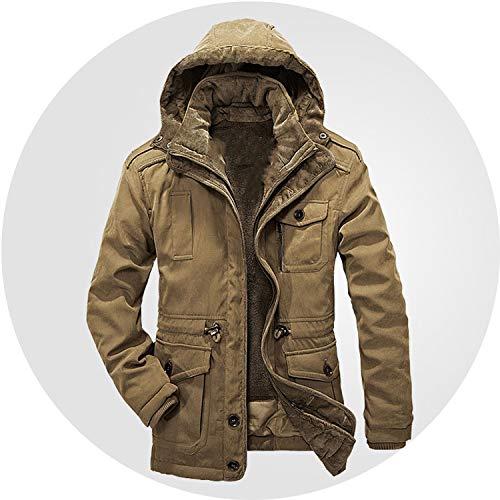 Winter Jacket Men Parkas Top Warm Waterproof Big Size Thicken Male Heavy Wool 2 in,Blue,XL
