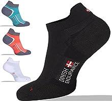Calcetines de Deporte Low Cut Pro, 5 o 3 pares, de DANISH ENDURANCE, calcetines cortos, calcetines zapatilla, transpirable, para hombres y mujeres, fitness, tenis, correr, uso diario, negros, blancos