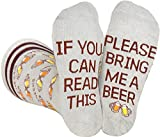 Saucey Socks Grey Bring Me Beer Socks (Large) for men, Luxury cotton designs, Great Gift