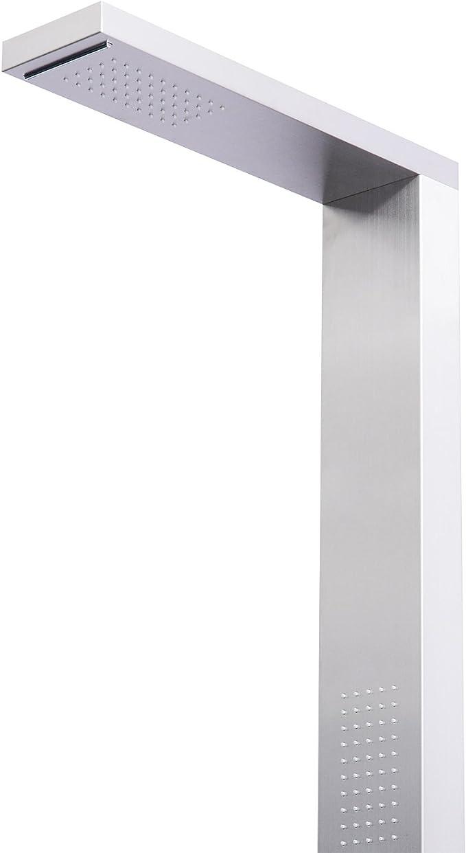 HOMCOM Panel de Ducha Multifunciones con Cascada y Temperatura ...