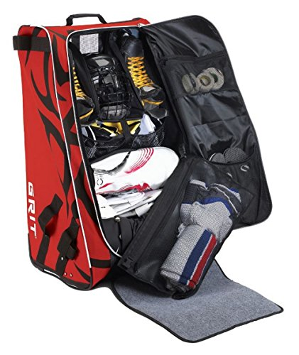 Grit Inc HTFX Hockey Tower 33'' Wheeled Equipment Bag Red HTFX033-CH (Chicago) … by Grit (Image #3)