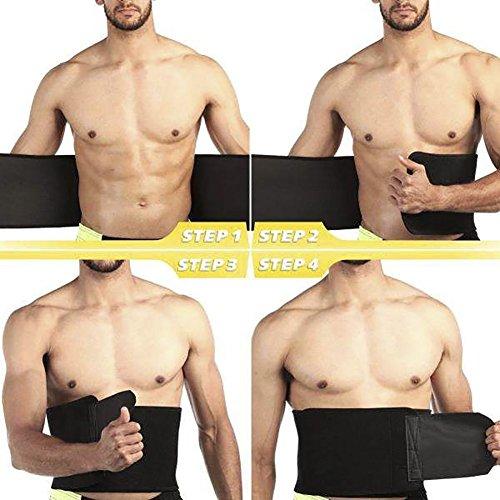 Waist Trimmer,Waist Wrap Waist Trimmer for Women Ab Belt Waist Trainer Adjustable Waist Trimmer Belt for Men Sauna Suit to Loose Weight and Keep Fit(Red) by FOISON (Image #5)