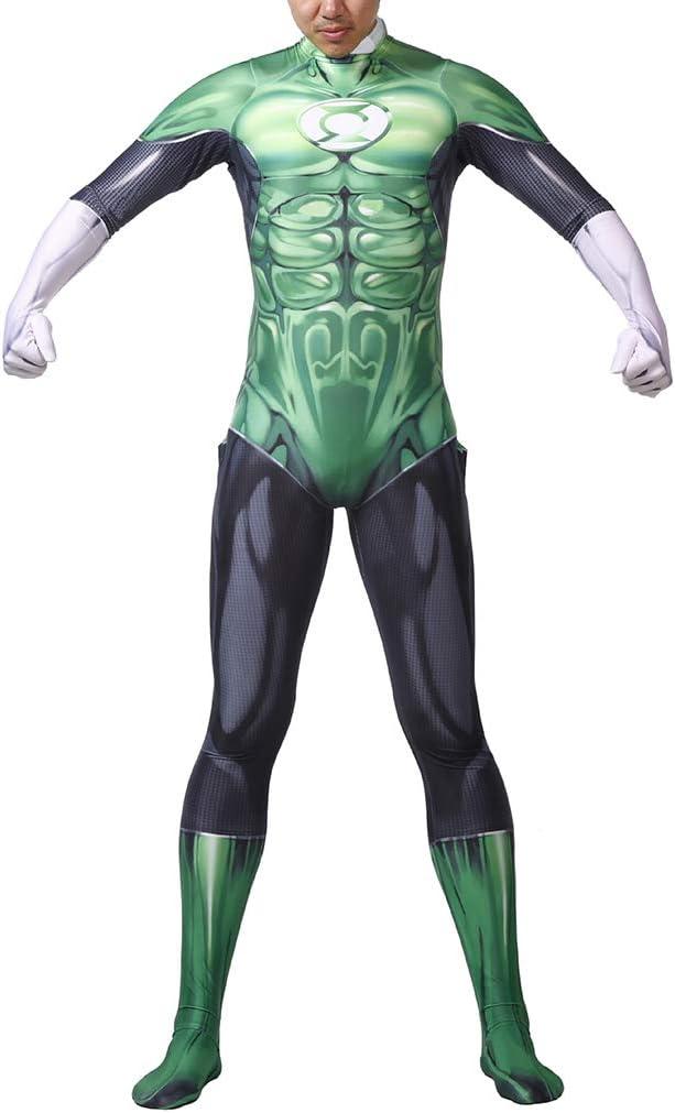 QQWE Traje Cosplay Green Lantern DC superhéroe Hombres Disfraz de ...