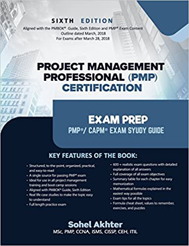 Buy Project Management Professional Pmp Certification Exam Prep Book ...