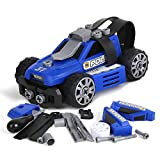 5-in-1 DIY Take Apart City Police Car Toys for 3 4 5 6 7 Year Old Boys Girls, Emergency Rescuing STEM Learning Toys Building Play Set for Kids Children