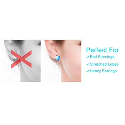 2pairs Set Womens Earring Backs Lifter Support Adjustable