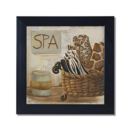 Jungle Spa I Bathroom Black Framed Art Print Poster 12x12