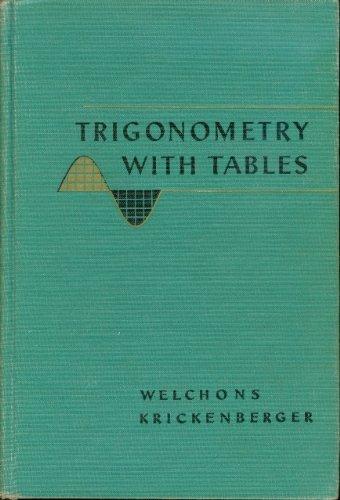 Trigonometry with Tables (Trigonometry Tables)